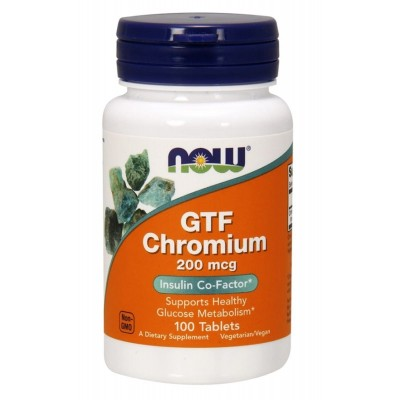 Хром Now Foods GTF Chromium (100 таб)