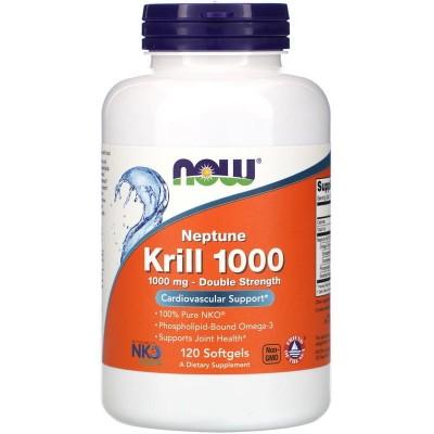 Масло Криля Now Foods Krill 1000 (120 капс)