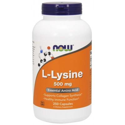 Лизин Now Foods L-Lysine 500 (250 капс)