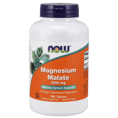 Магний Now Foods Magnesium Malate (180 таб)