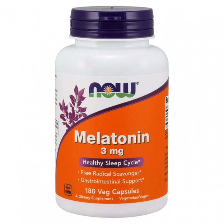 Now Foods Melatonin 3мг 180 капсул