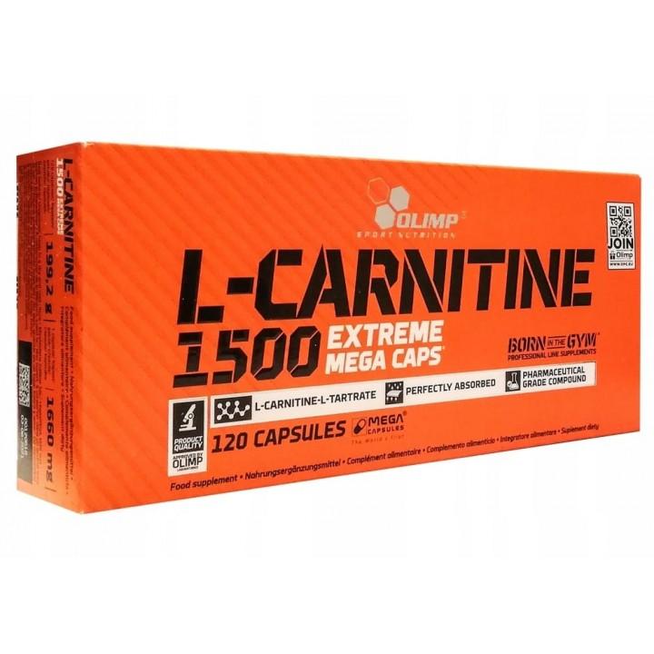 Карнитин Olimp L-Carnitine 1500 Extreme Mega Caps (120 капс)