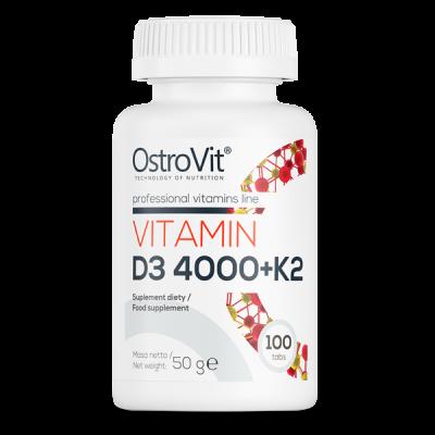 Витамин Д3 и К2 Ostrovit Vitamin D3 4000 & K2 (100 таб)