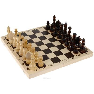 Шахматы лакированные 29х14х3 см