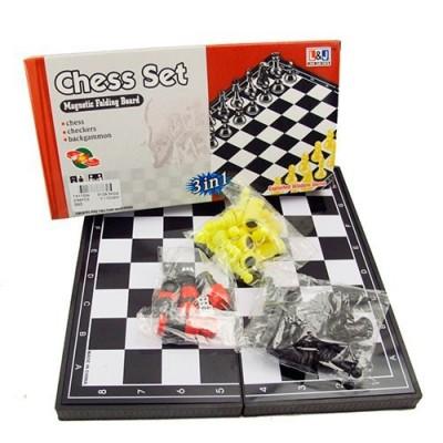 Игра 3 в 1 (шахматы/шашки/нарды магнитные) ТХ11224