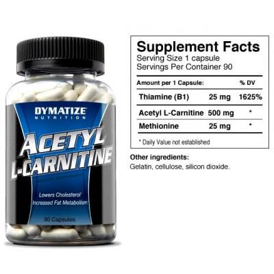 Карнитин Dymatize Nutrition Acetyl L-Carnitine Alcar