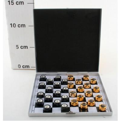 Шашки металлические 13,5*13,5см. Ф23206