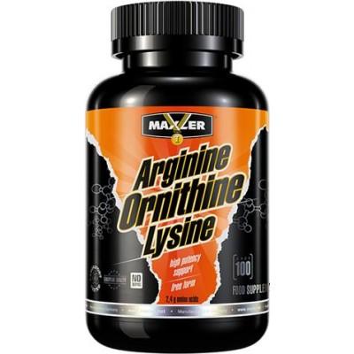 Аргинин Maxler Arginine Ornithine Lysine (100 капс)