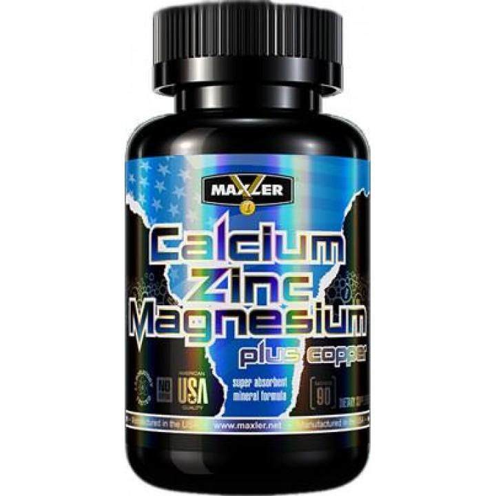 Минералы кальций, цинк и магний Maxler Calcium Zinc Magnesium