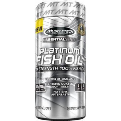 Жирные кислоты Platinum 100% Fish Oil 4x Essential Series