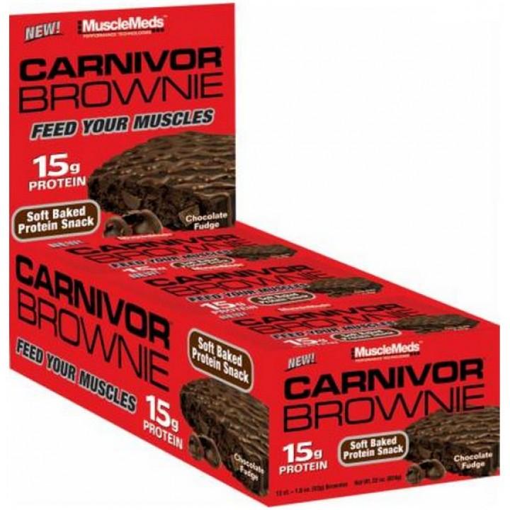 Протеиновый брауни MuscleMeds Carnivor Brownie