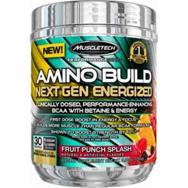 Аминокислоты БЦАА Muscletech Amino Build Next Gen Energized