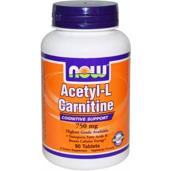 Карнитин NOW Acetyl-L Carnitine 750mg