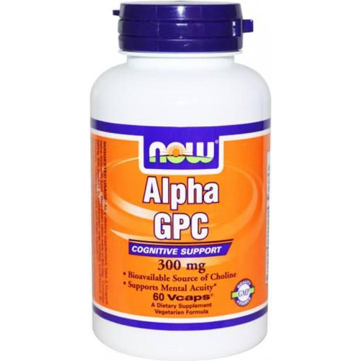 Холин NOW Alpha GPC 300mg