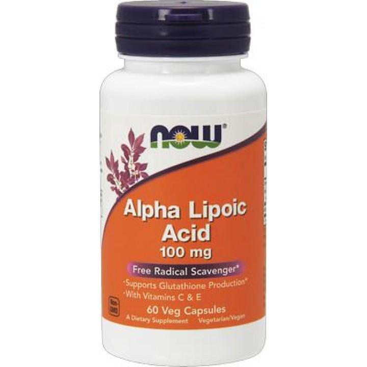 Альфа-липоевая кислота Now Foods Alpha Lipoic Acid (60 капс)