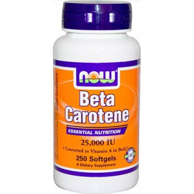 Бета-каротин NOW Beta Carotene 25000