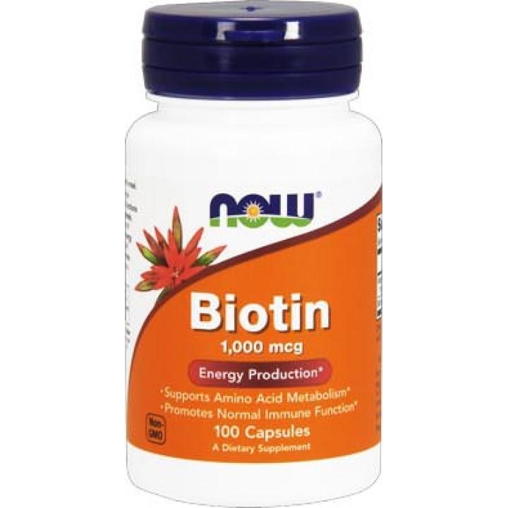 Биотин Now Foods Biotin (100 капс)