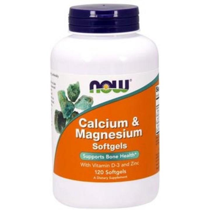 Кальций и магний NOW Calcium Magnesium Softgels