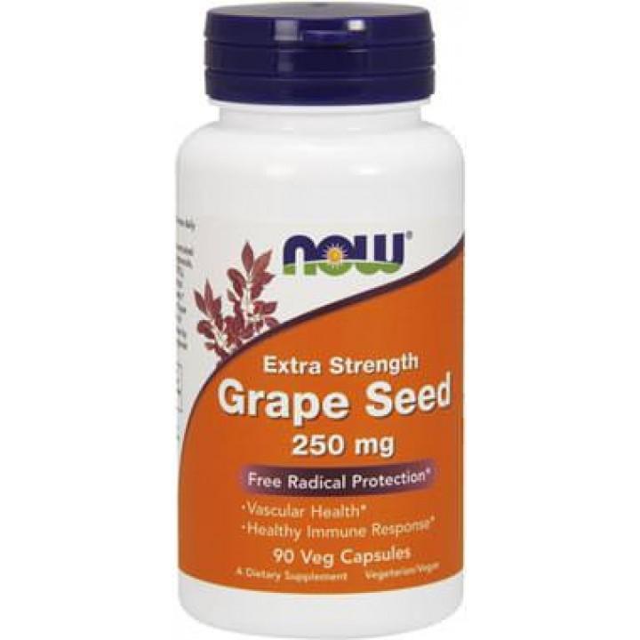 Антиоксиданты NOW Grape Seed 250mg