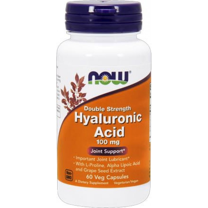 Гиалуроновая кислота Now Foods Hyaluronic Acid (60 капс)