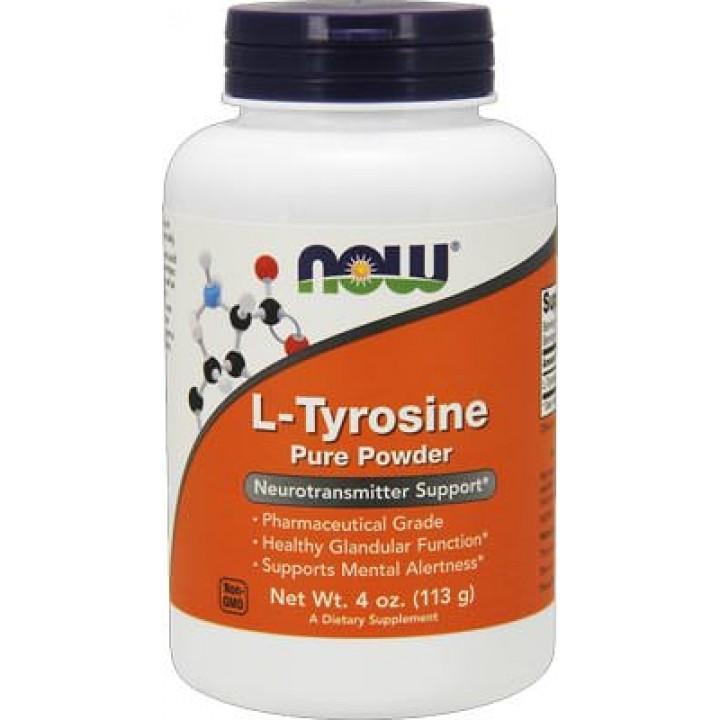 Тирозин NOW L-Tyrosine Pure Powder