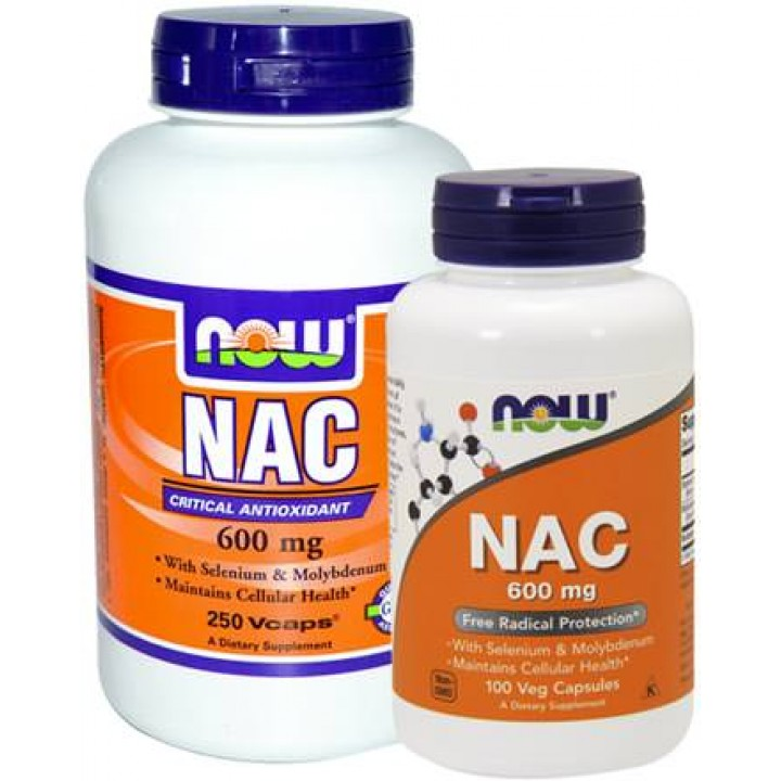 Цистеин NOW NAC 600mg (100 капс)