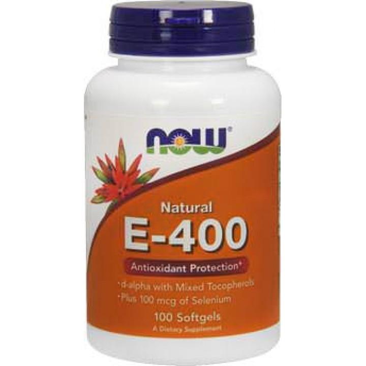 Витамин Е NOW Natural E-400