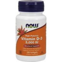Витамин Д3 Now Foods Vitamin D-3 5000 IU (120 капс)