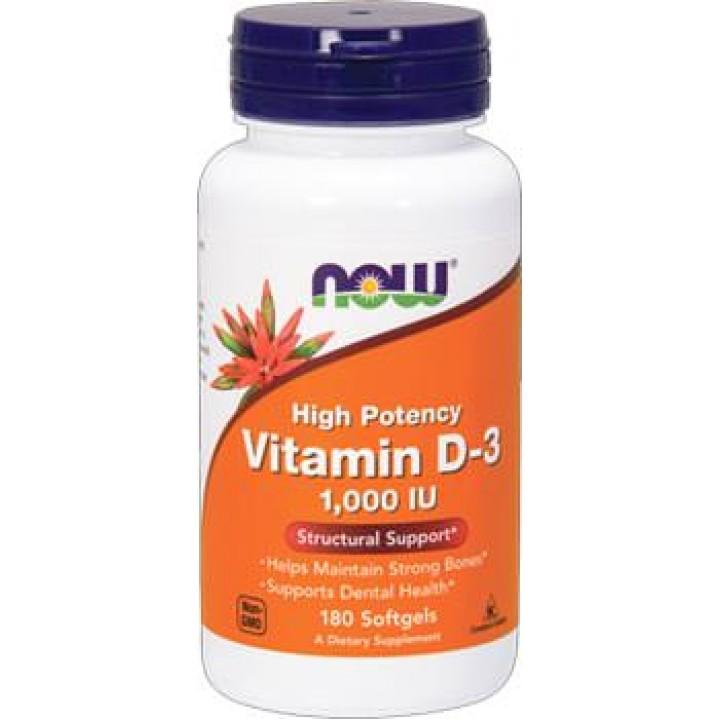 Витамин Д3 Now Foods Vitamin D-3 1000 IU (180 капс)