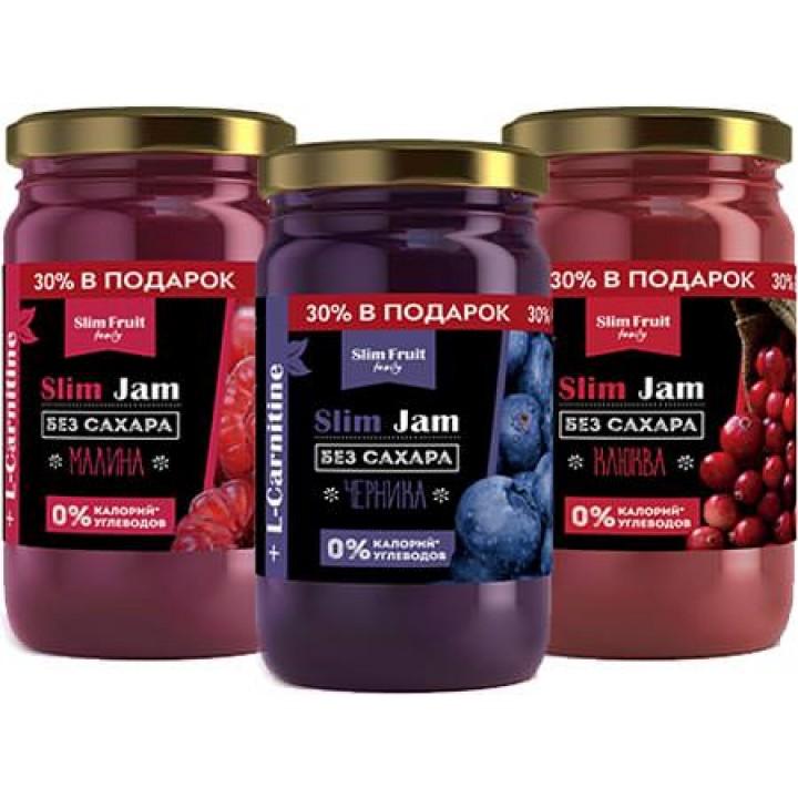 Бескалорийные джемы с карнитином Slim Fruit Slim Jam + L-Carnitine