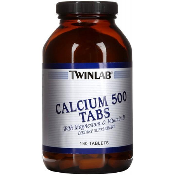 Кальций с магнием и витамином Д Twinlab Calcium 500 Tabs with Magnesium and Vitamin D