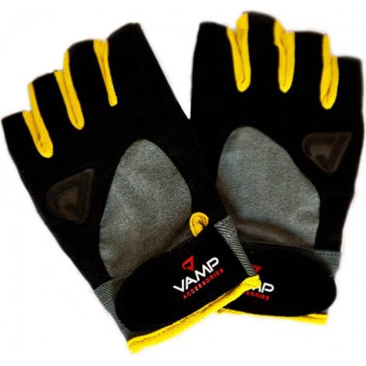 Спортивные перчатки Vamp Black Yellow Gloves