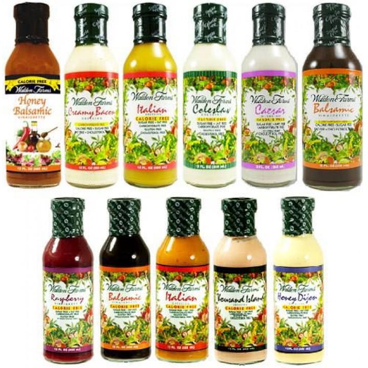 Бескалорийные заправки для салатов Walden Farms Salad Dressings