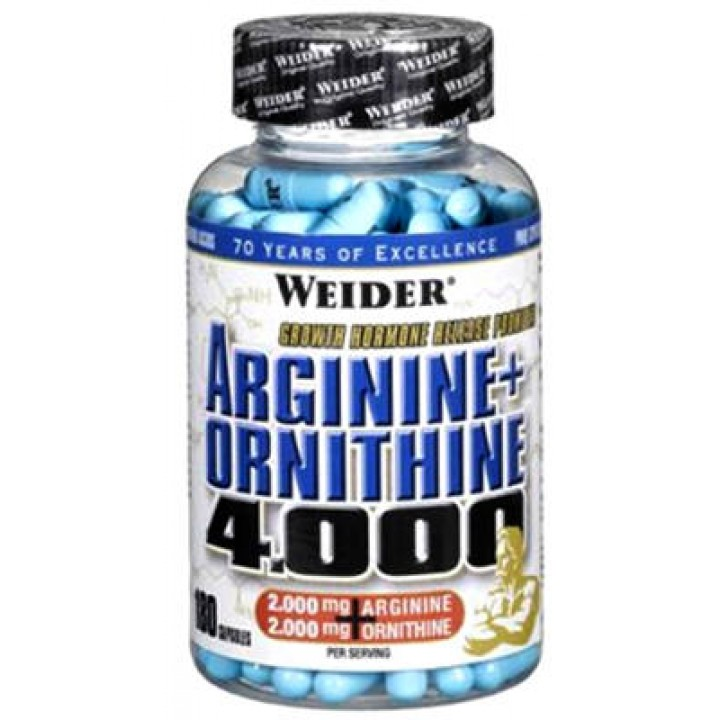 Аргинин Weider Arginine + Ornithine 4000