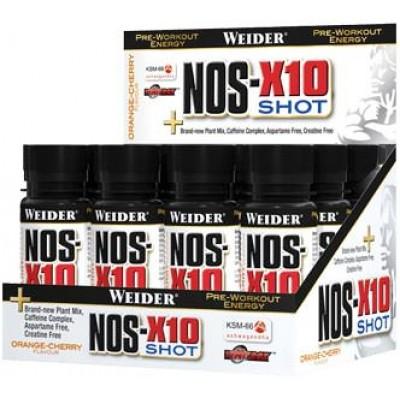 Предтренировочный энергетик Weider NOS-X10 Shot