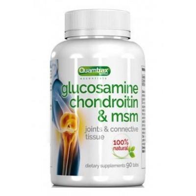 Глюкозамин хондроитин МСМ Quamtrax Glucosamine Chondroitin & MSM (90 таб)