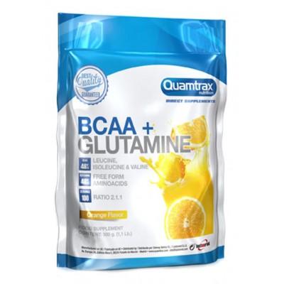 Аминокислоты Quamtrax Nutrition BCAA 2:1:1 + Glutamine (500 гр)