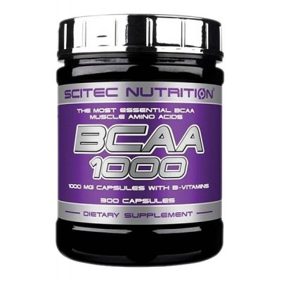 Аминокислоты Scitec Nutrition BCAA 1000 (300 капс)