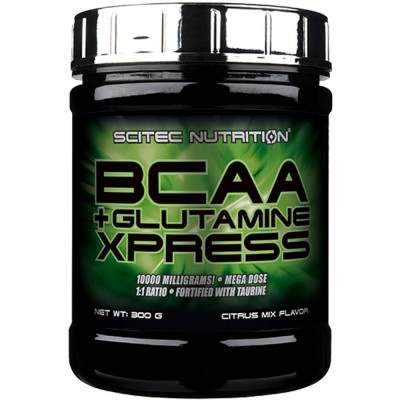 Аминокислоты Scitec Nutrition BCAA + Glutamine Xpress (300 гр)