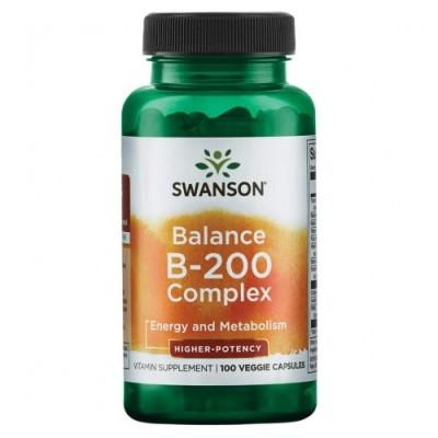 Витамины группы Б Swanson Balance B-200 Complex (100 капс)