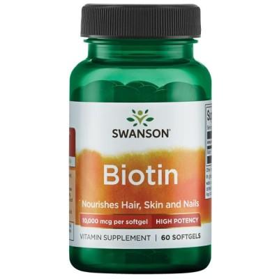 Биотин Swanson Biotin 10000 (60 капс)