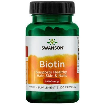 Биотин Swanson Biotin 5000 (100 капс)