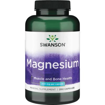 Магний Swanson Magnesium 200 mg (250 капс)