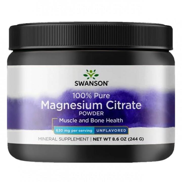 Магний Swanson Magnesium Citrate Powder (244 гр)