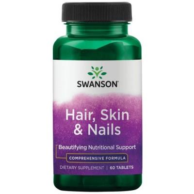 Комплекс для кожи, волос и ногтей Swanson Hair, Skin & Nails (60 таб)