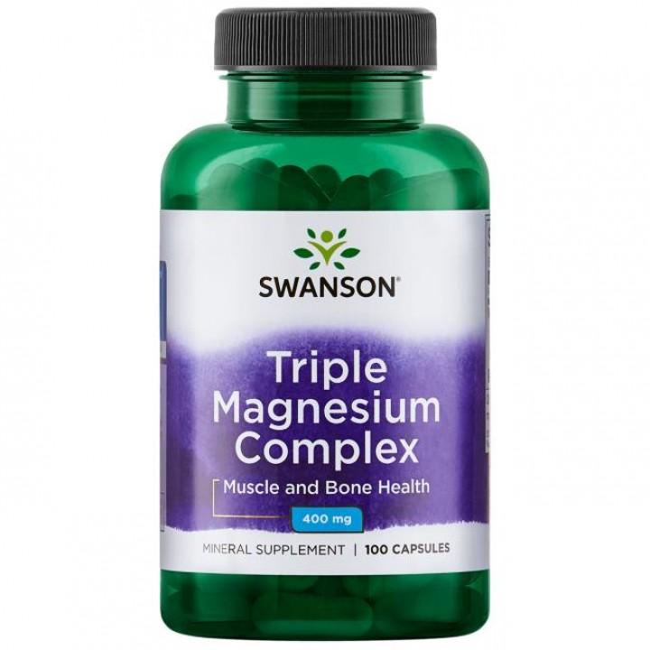 Магний Swanson Triple Magnesium Complex 400 mg (100 капс)
