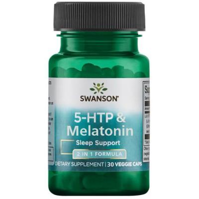 5-Гидрокситриптофан, мелатонин Swanson 5-HTP & Melatonin (30 капс)