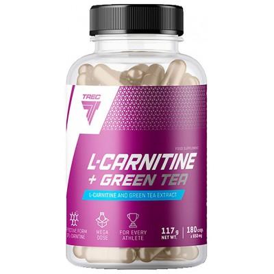 Карнитин Trec Nutrition L-Carnitine + Green Tea (180 капс)