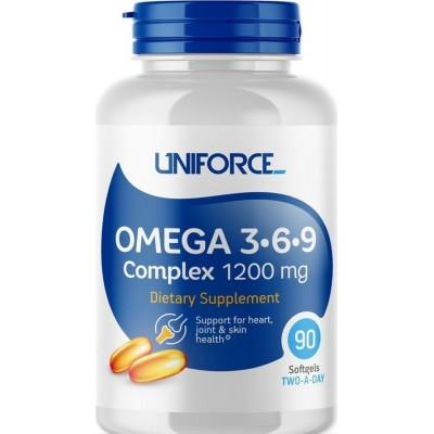Жирные кислоты Uniforce Omega-3-6-9 Complex (90 капс)