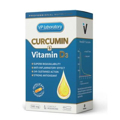 Куркумин VPLab Curcumin & Vitamine D3 (60 капс)